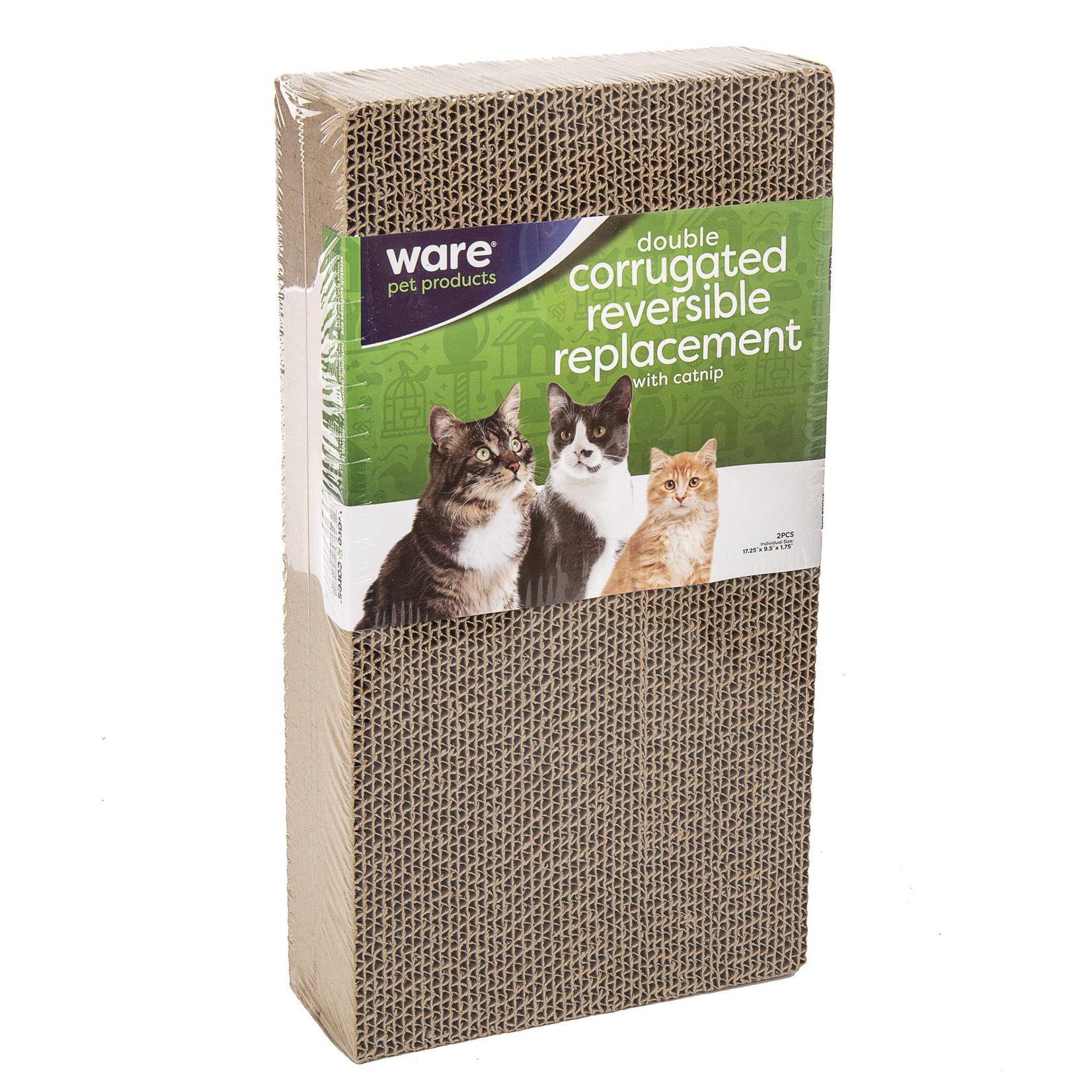 Cat Scratcher Corrugated Reversible Replacement + catnip  Double 2pcs