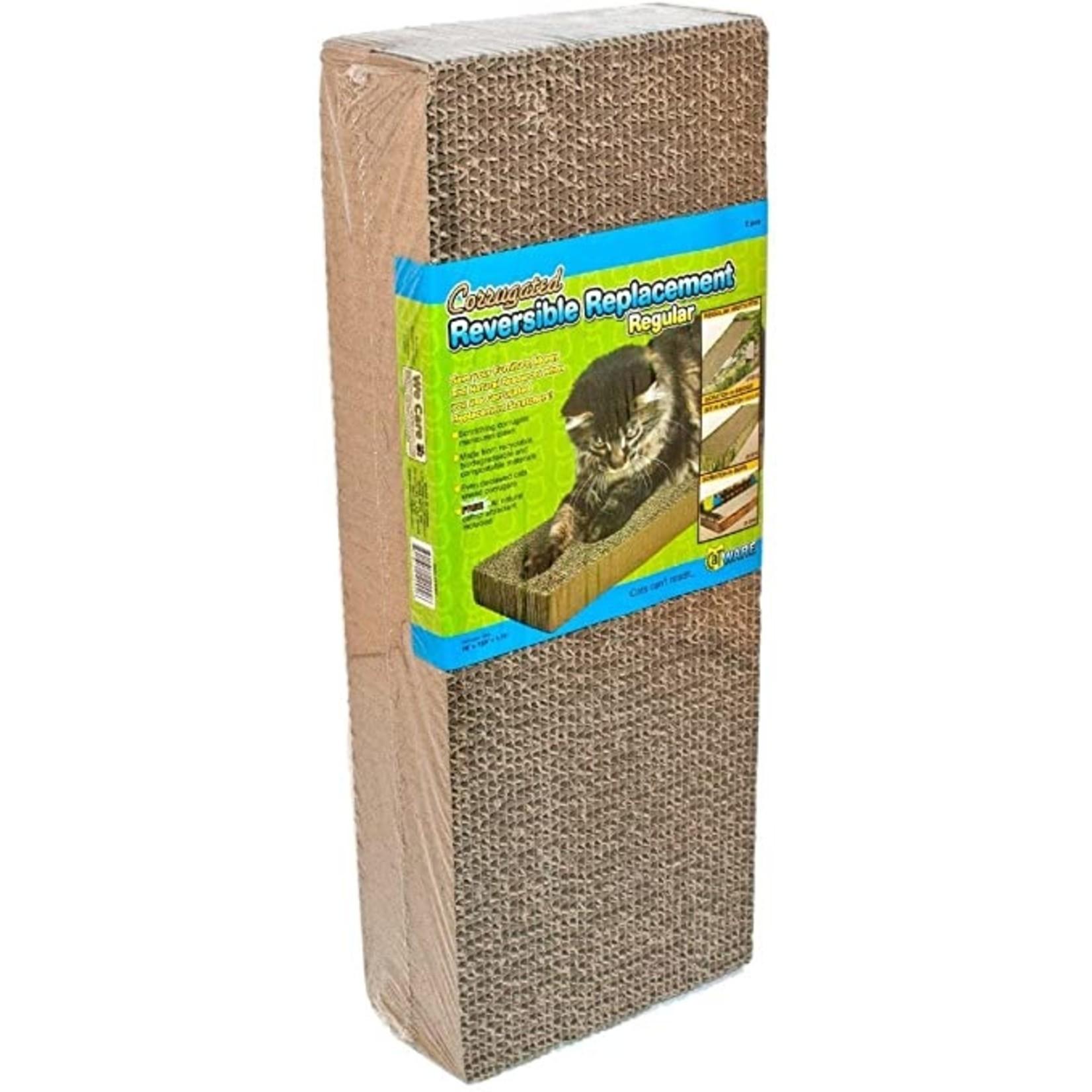 Cat Scratchy Corrugated Reversible Replacement +Catnip Single 2pcs