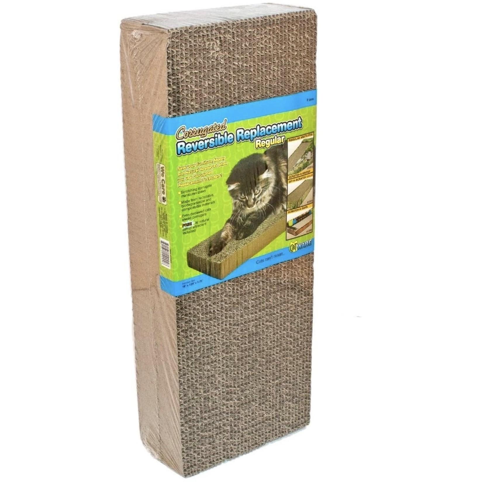 Cat Scratchy Corrugated Reversible Replacement +Catnip Regular  2 pcs