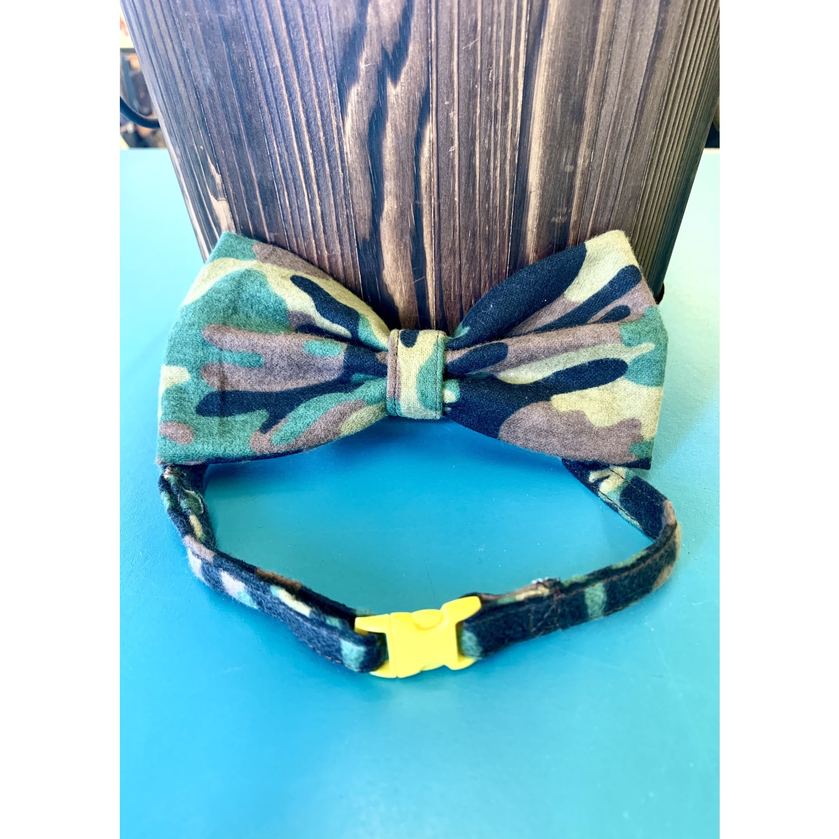 Hand Mades By Mom Camo Bow Tie with adjustable Collar XL