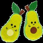 "Avocado Cat toy 2pk  4"""