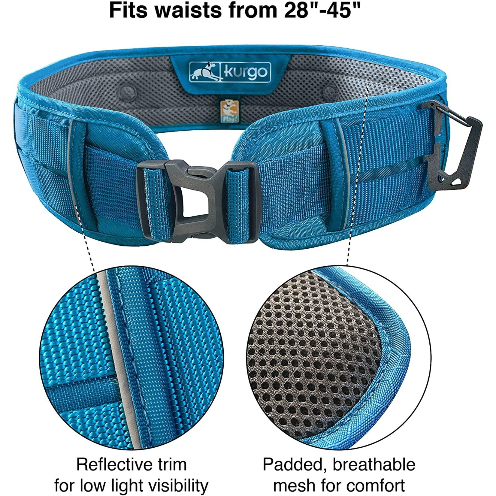 kurgo  Active Walking Belt Blue