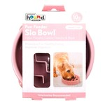 Slo Bowl Fun Feeder Pink  3/4 Cup