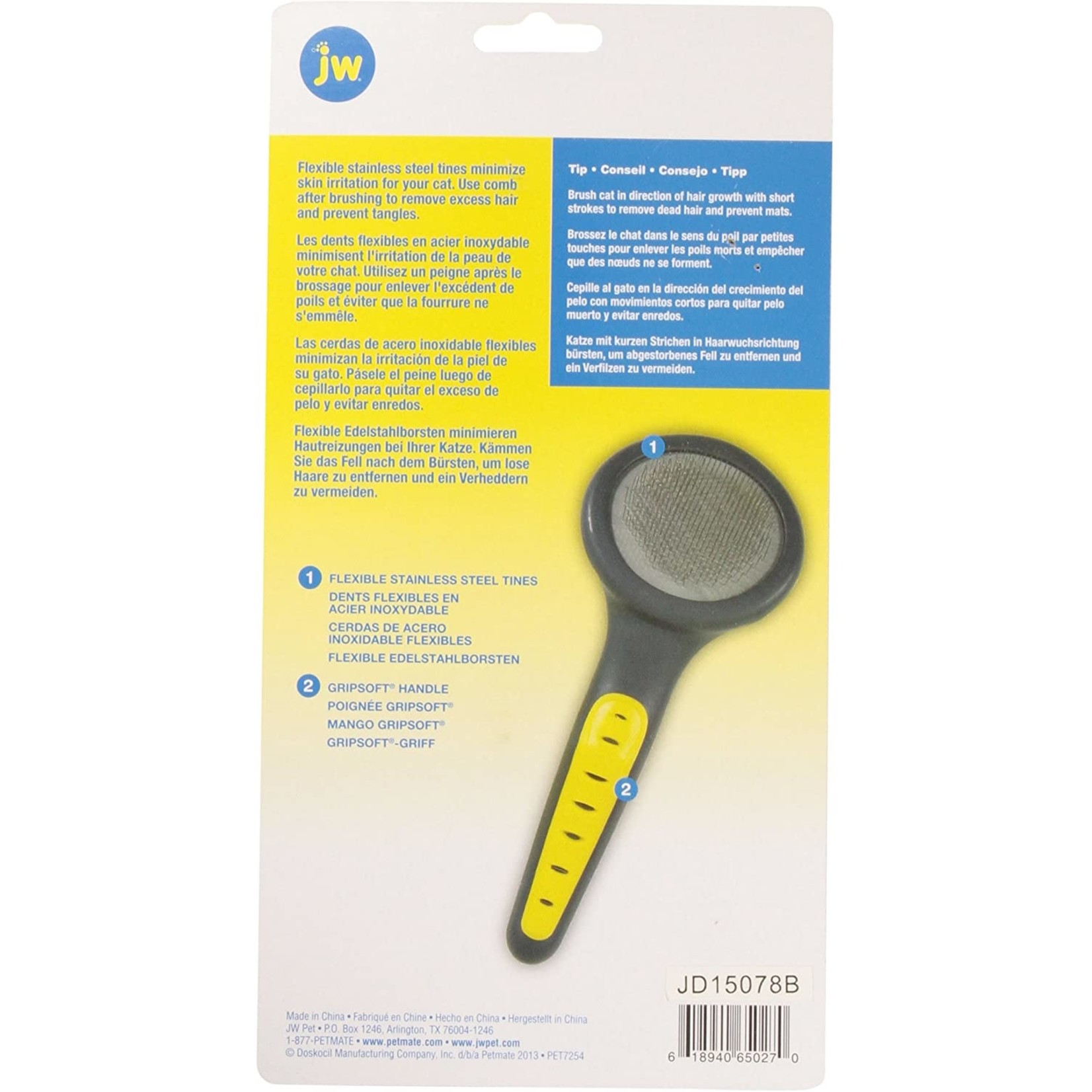 JW JW Gripsoft Slicker Brush / Cat