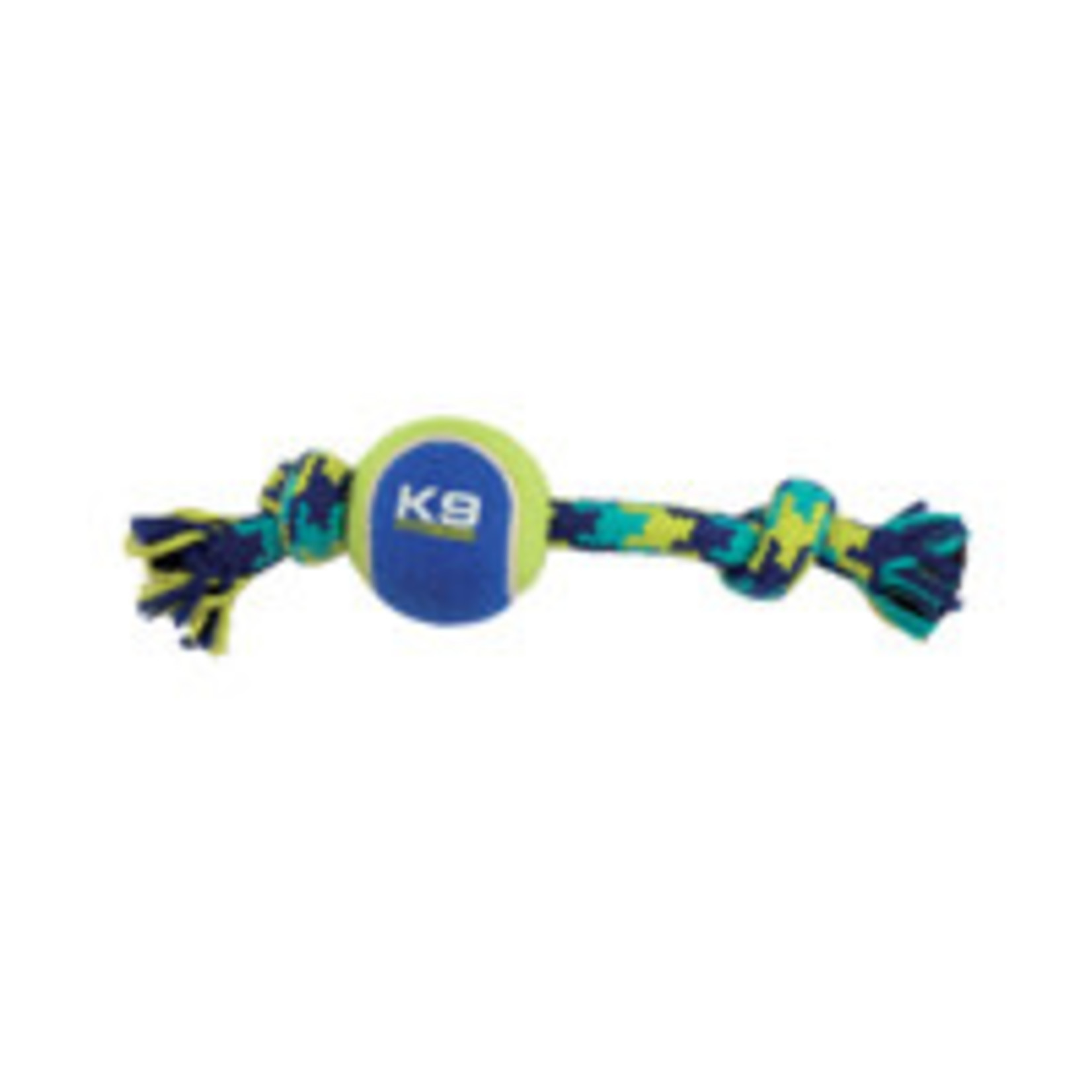 Zeus K9 Fitness Knotted Rope Bone with Tennis Ball - Small - 22.86 cm (9 in)