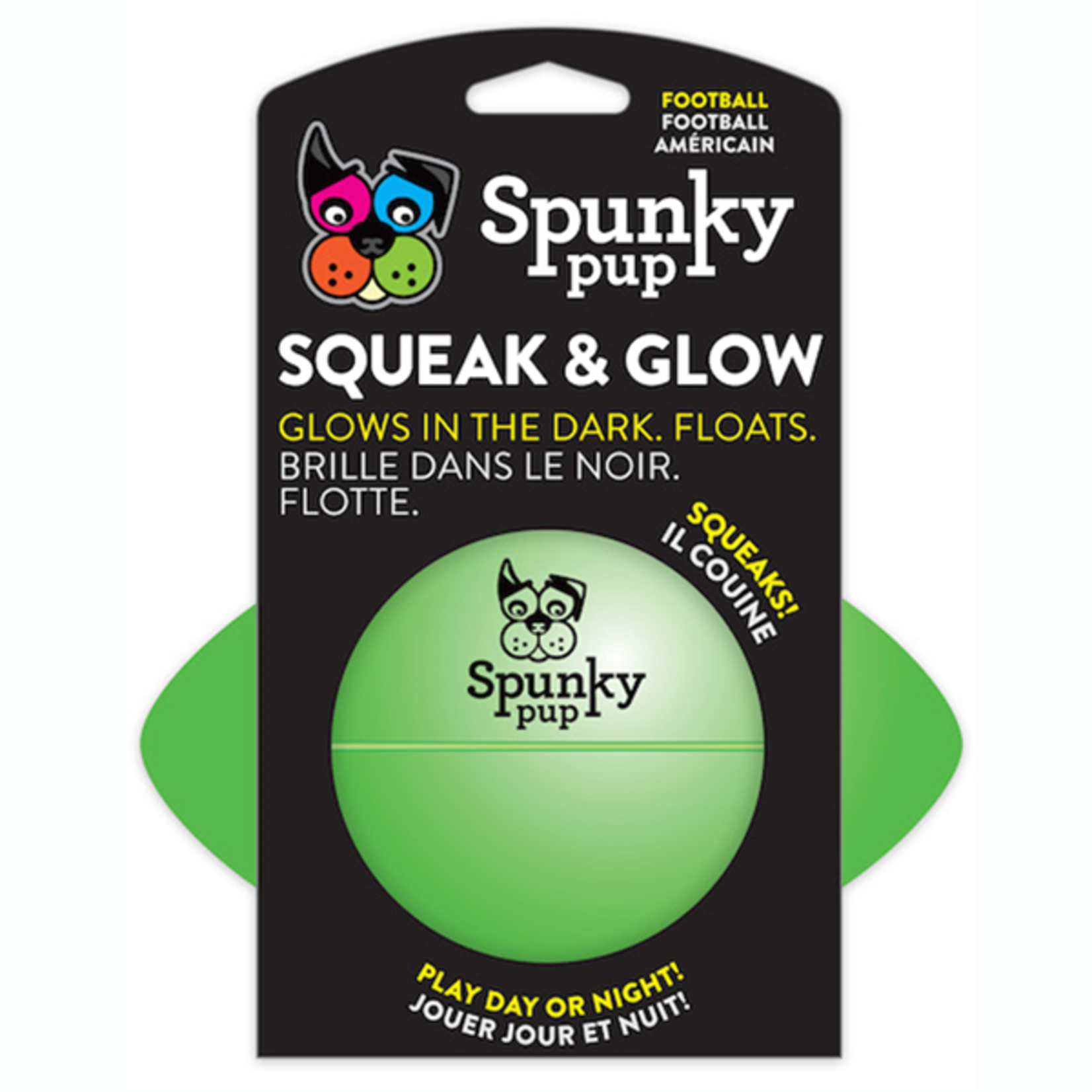 Spunky Pup Squeaky & Glow Football