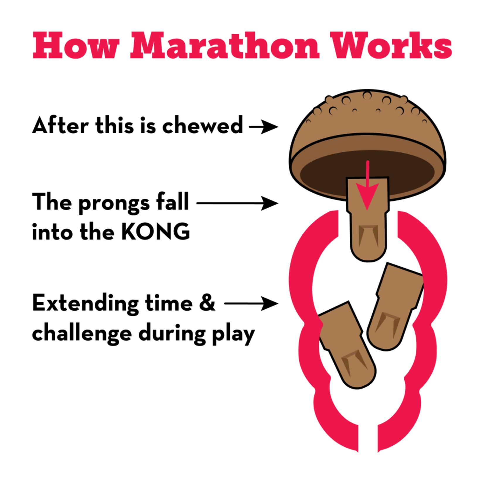 Kong Kong Marathon Peanut Butter 2Pk