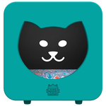 Kitty Kasa Cat bedroom with Bed - Teal