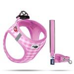 CURLI Curli puppy Vest Harness & leash pink