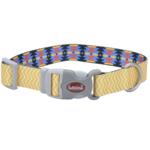 """Coastal Yellow Chevron Dog Collar M 12""""-18"""""""