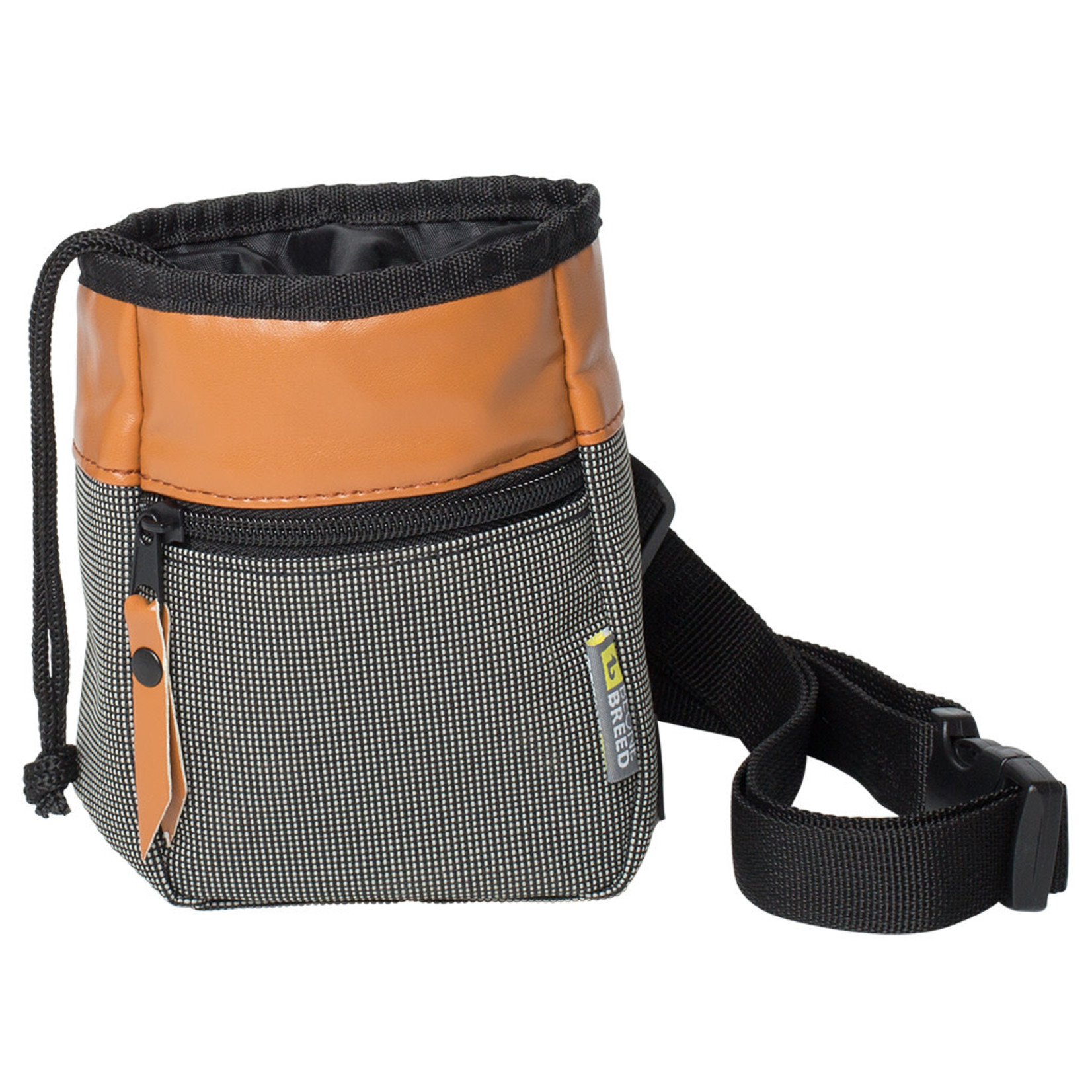 Be one Breed Treat Pouch Cross Body Strap Orange and grey