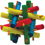 KAYTEE Wooden Toy Colourful for small animal Medium