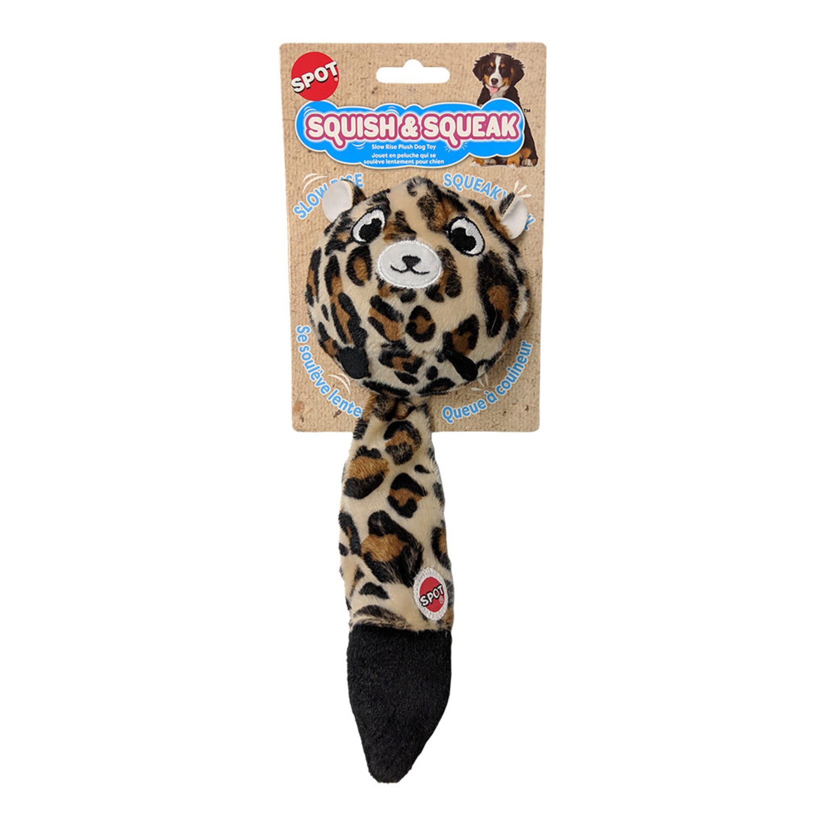 "Leopard Dog Toy 10"""