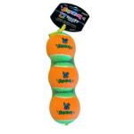 Spunky Pup  Squeaky Tennis Balls MED  3pk