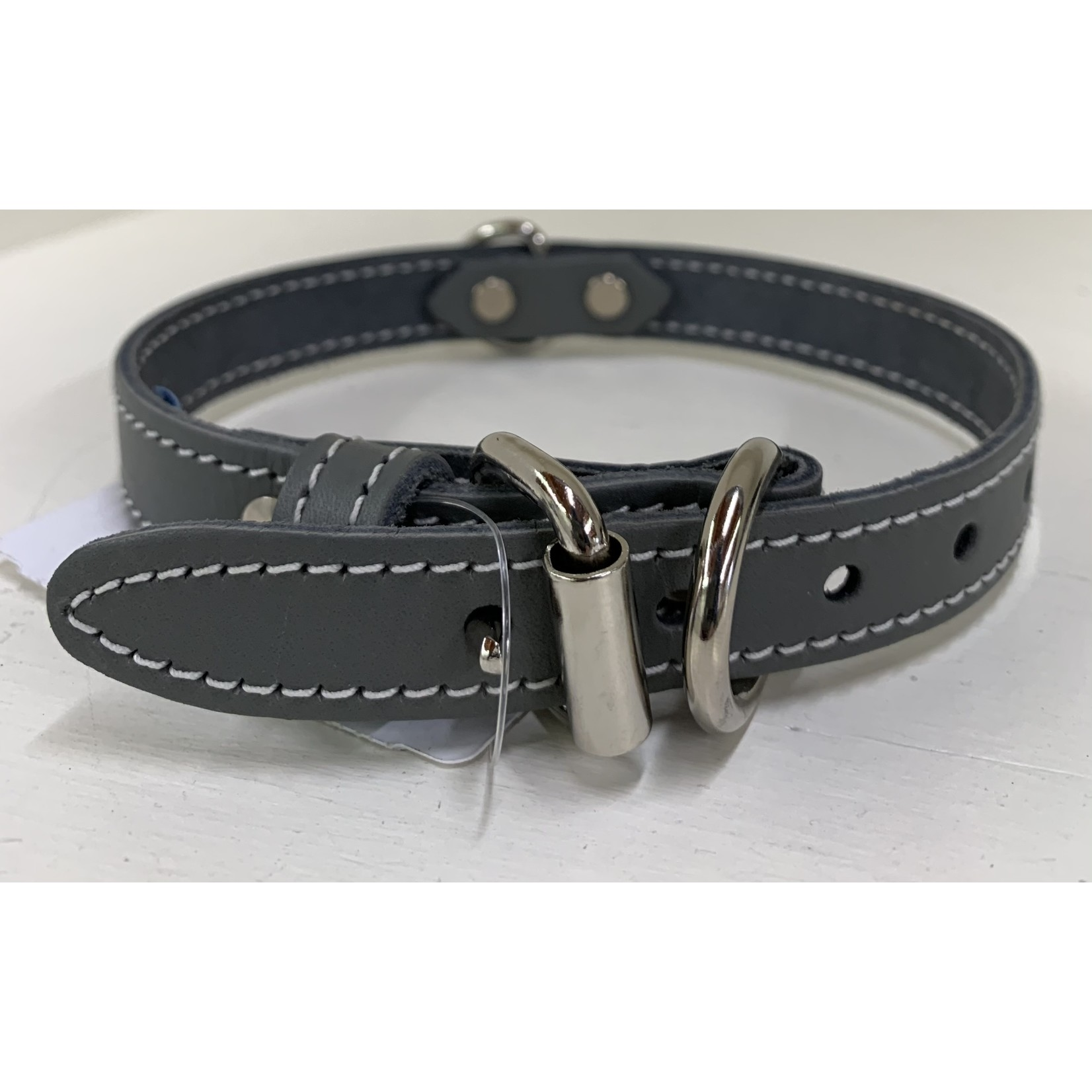 leather collar gray 3/4 x 18 in