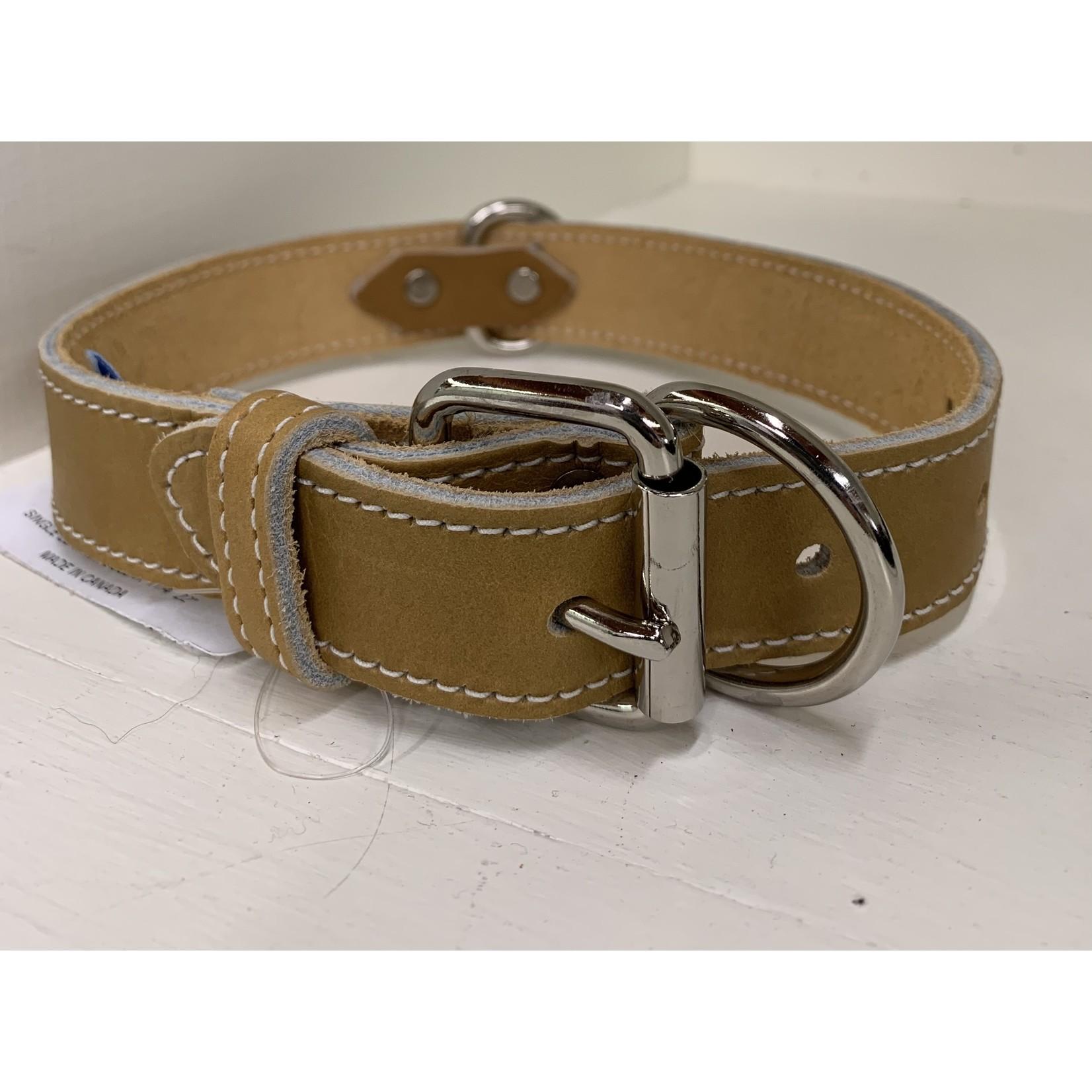 Leather Collar Tan 1 1/4x24in