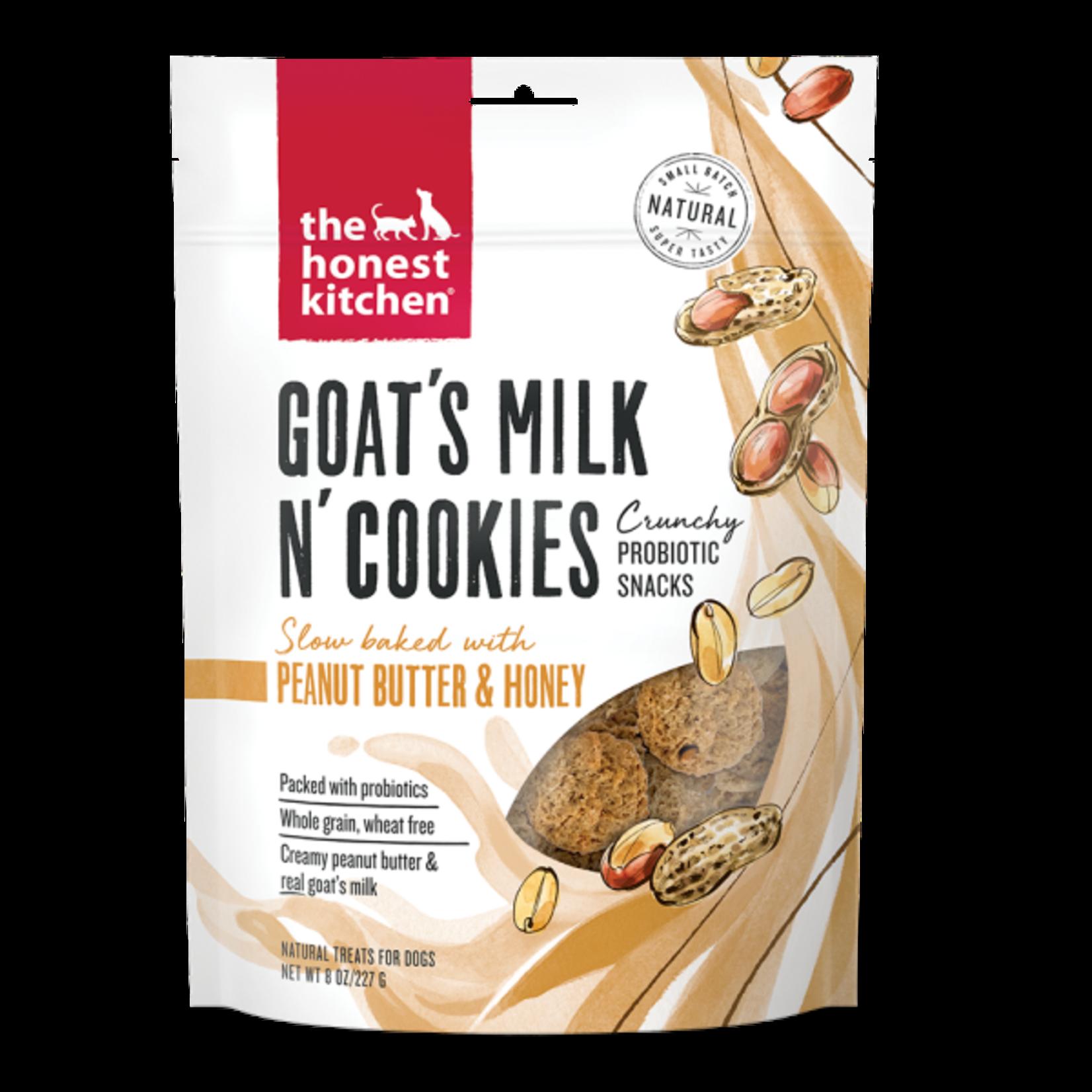 Honest Kitchen HK Dog Goats Milk Cookies W Peanut Butter & Honey 8oz