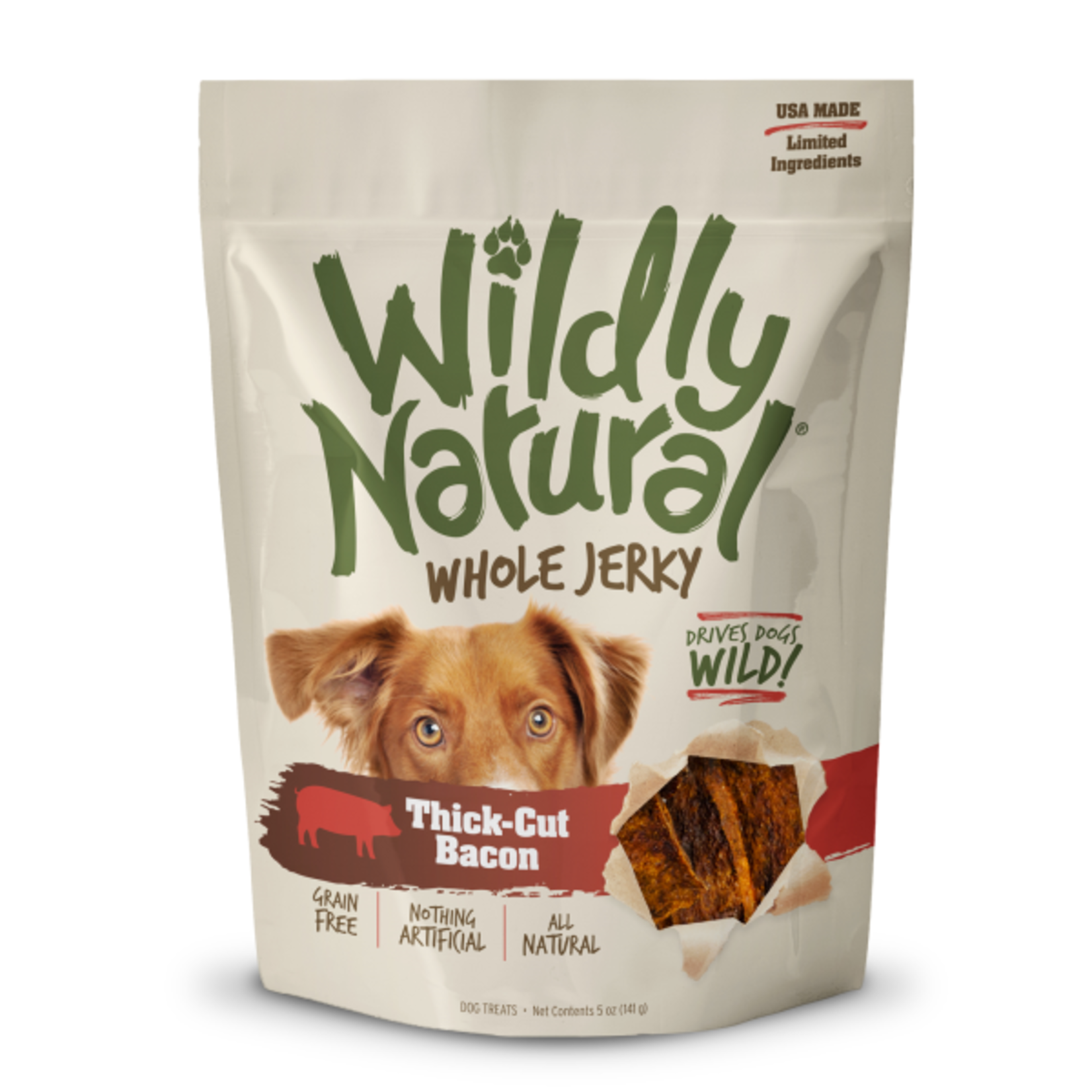 Wildly Natural Dog treat Thick Cut Bacon