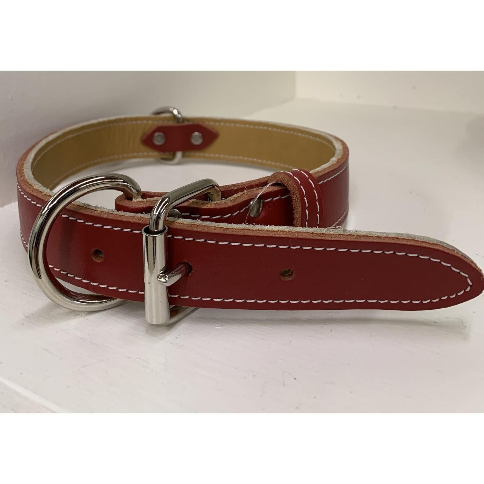 "Lacets Arizona Leather Collar Brick 1/2x14"""