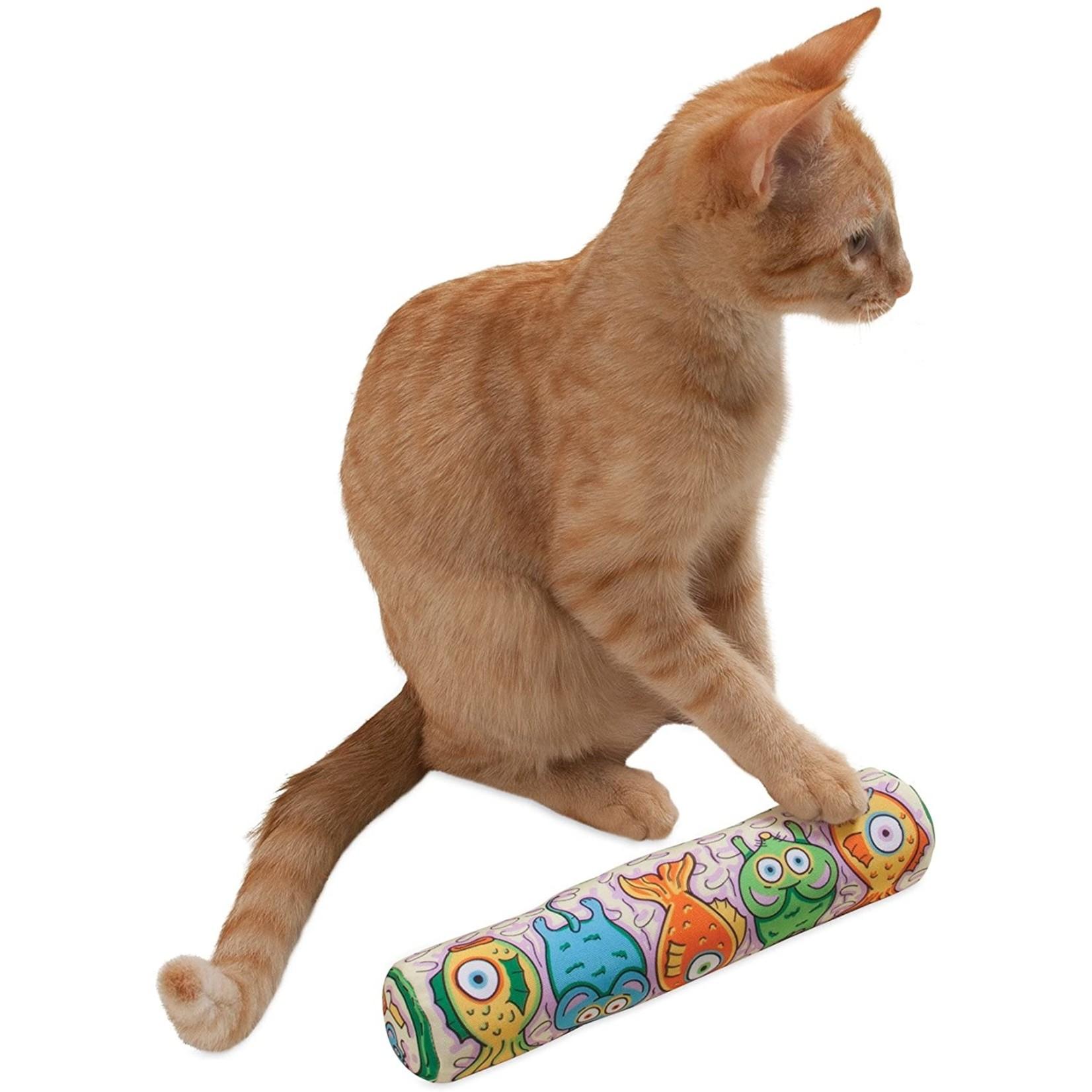 Kitty Kickz Gold Fish Roll Cat Toy