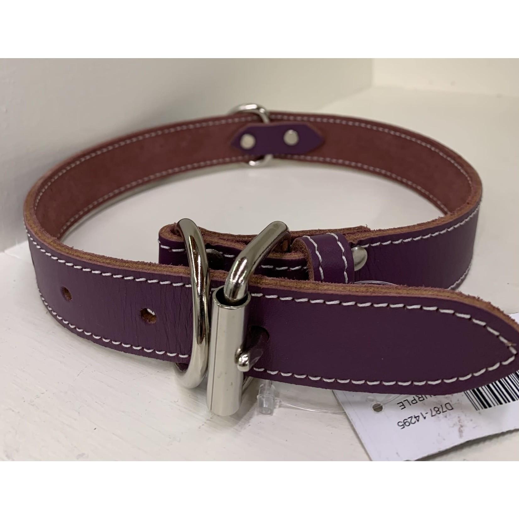 Lacets Arizona Leather Collar Purple 1 1/4x24in