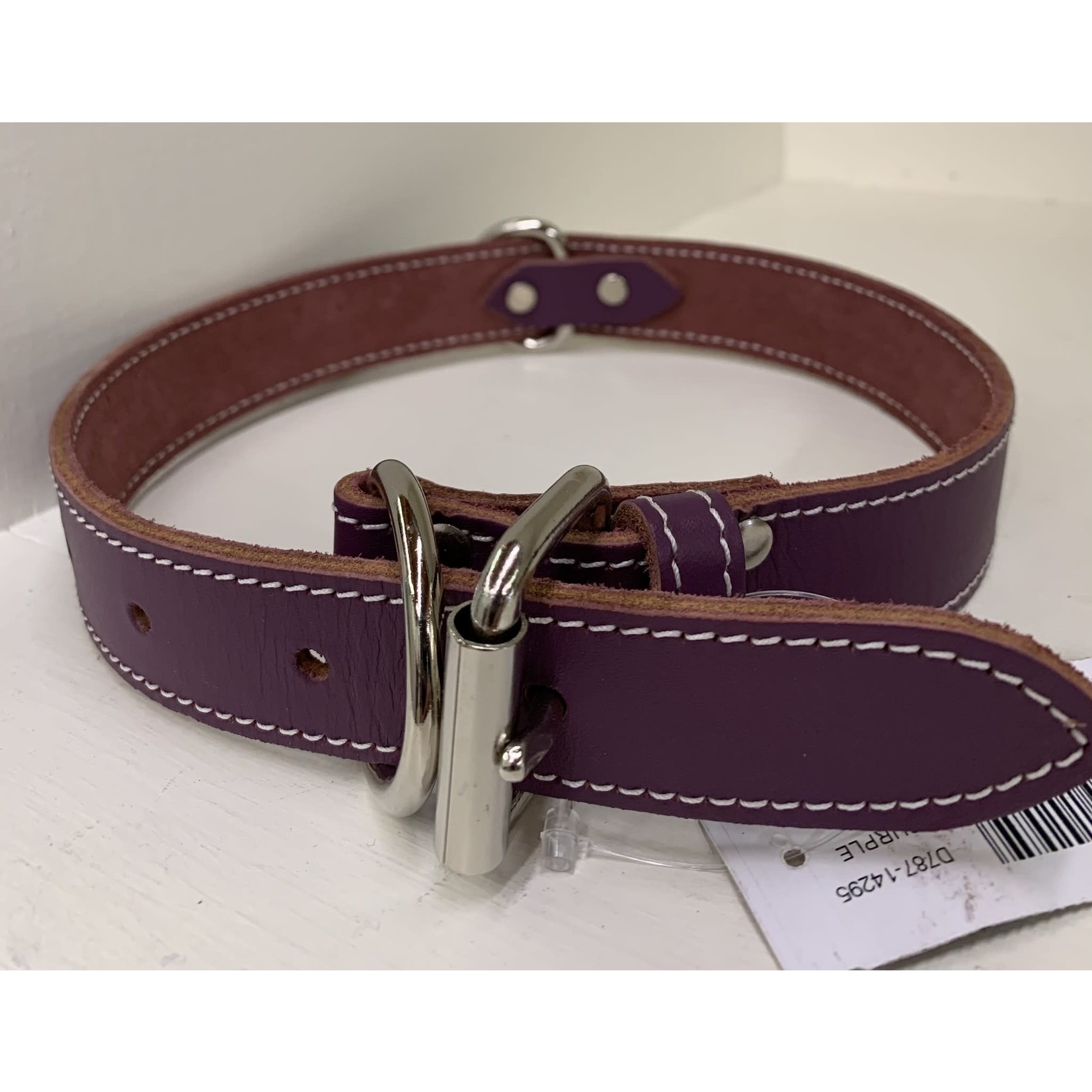 "Lacets Arizona Leather Collar Purple 1/2x14"""