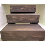 Pet Steps By Ben Hand Made Natural Wood Pet Steps Brown 3 level