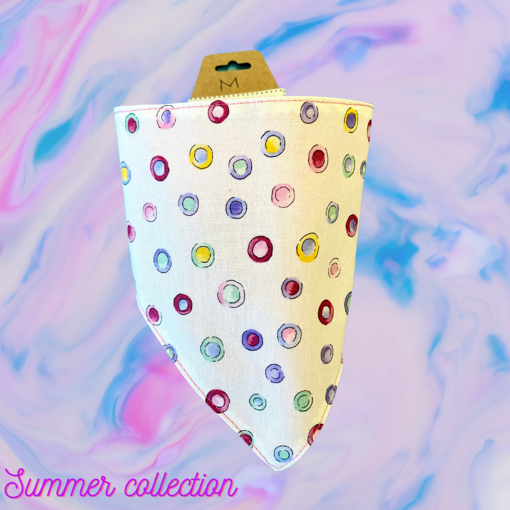 Hand Mades By Mom Summer Collection Dots Bandana