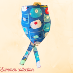Hand Mades By Mom Summer Collection  Blue Cats Bandana M