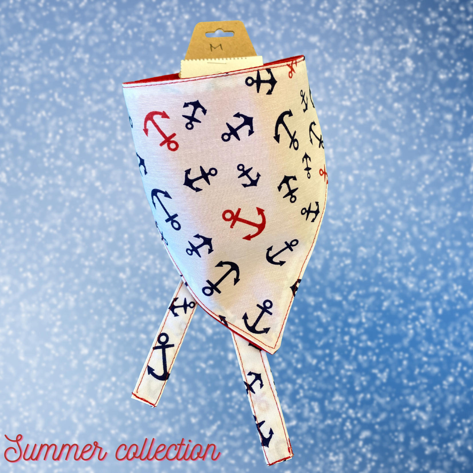 Hand Mades By Mom Summer Collection Anchor Bandana
