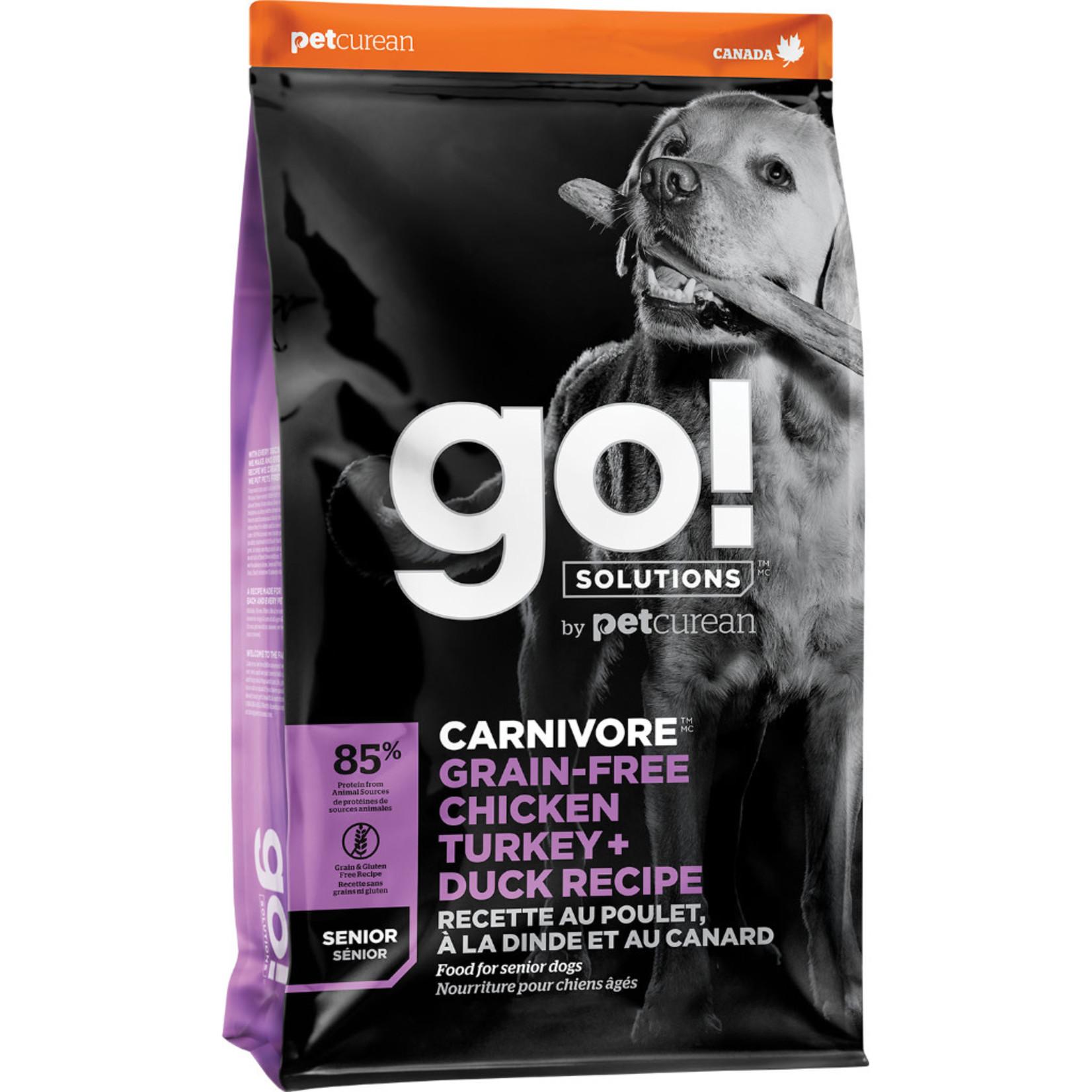 Go! Go! Dog Senior GF Chicken + Turkey + Duck