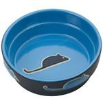 """ETHICAL Fresco Cat Dish Blue 5"""""""