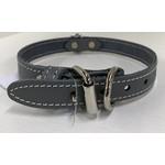 Lacets Arizona Leather Collar Gray