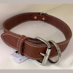 Lacets Arizona Leather Collar Brick Red