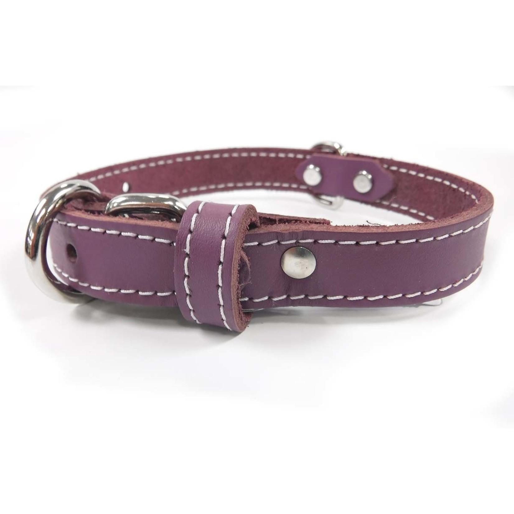 Lacets Arizona Leather Collar Purple