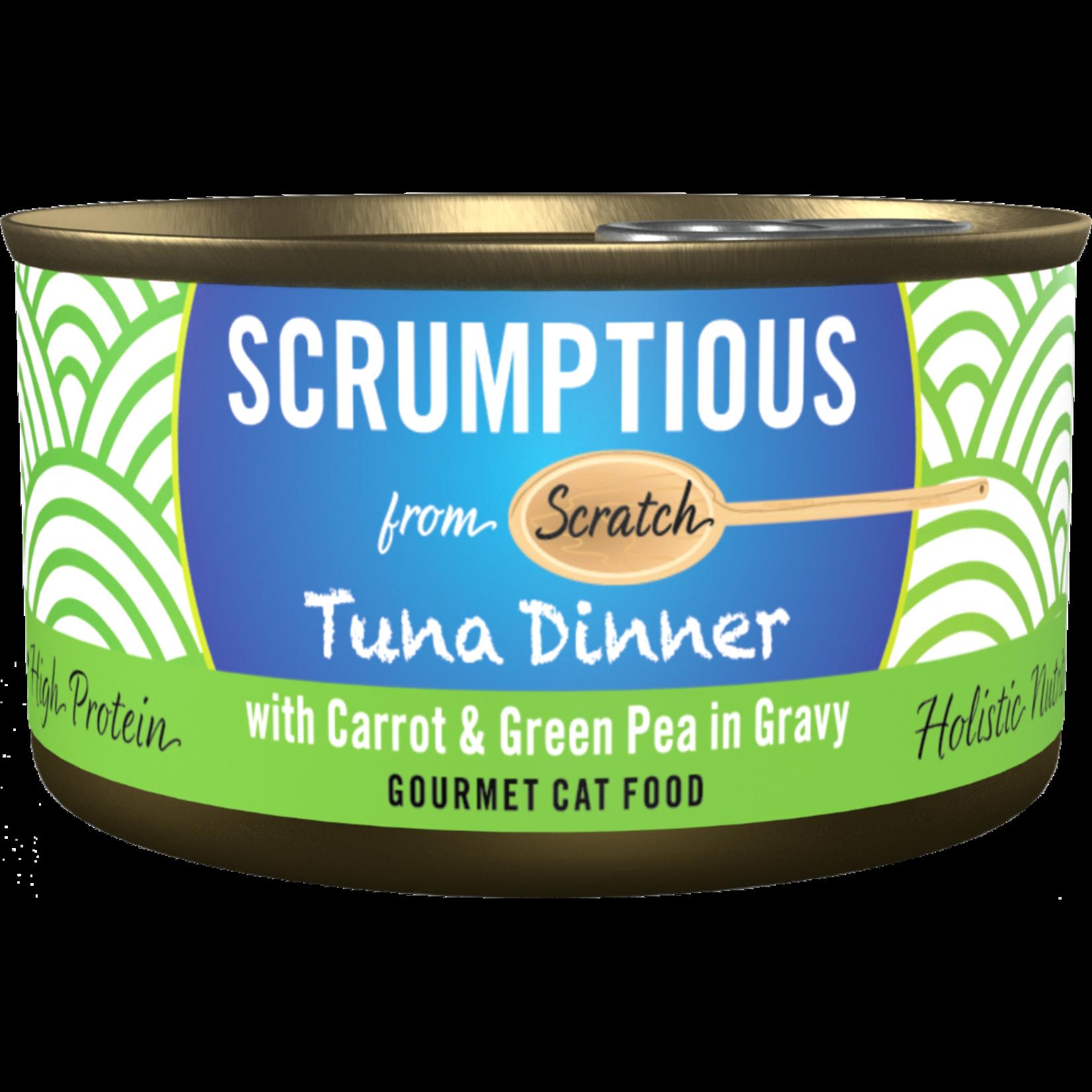 Scrumptious Scrumptious Cat Can Tuna W Carrot & green Pea in Gravy  2.8oz