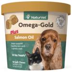 NaturVet Omega Gold + Salmon Oil Soft Chews 90ct