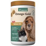 NaturVet Omega Gold + Salmon Oil Soft Chews 180ct
