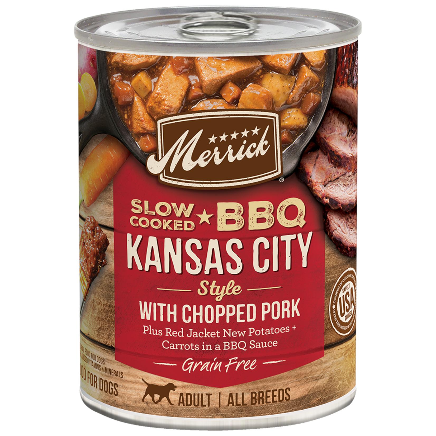 Merrick Merrick  BBQ Kansas City Style Pork Dog Can 12.7 oz