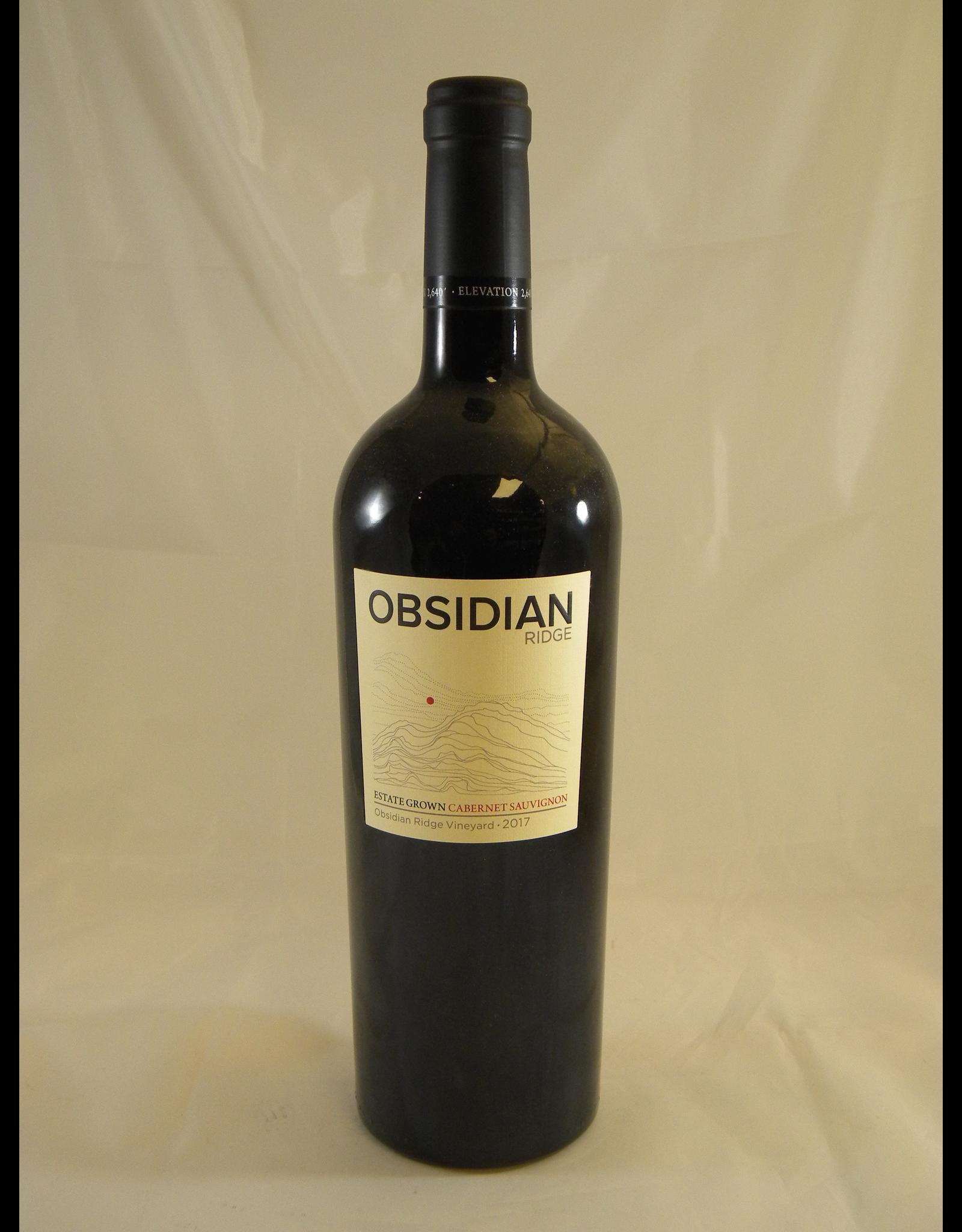 Obsidian Obsidian Ridge Cabernet Lake County 2017
