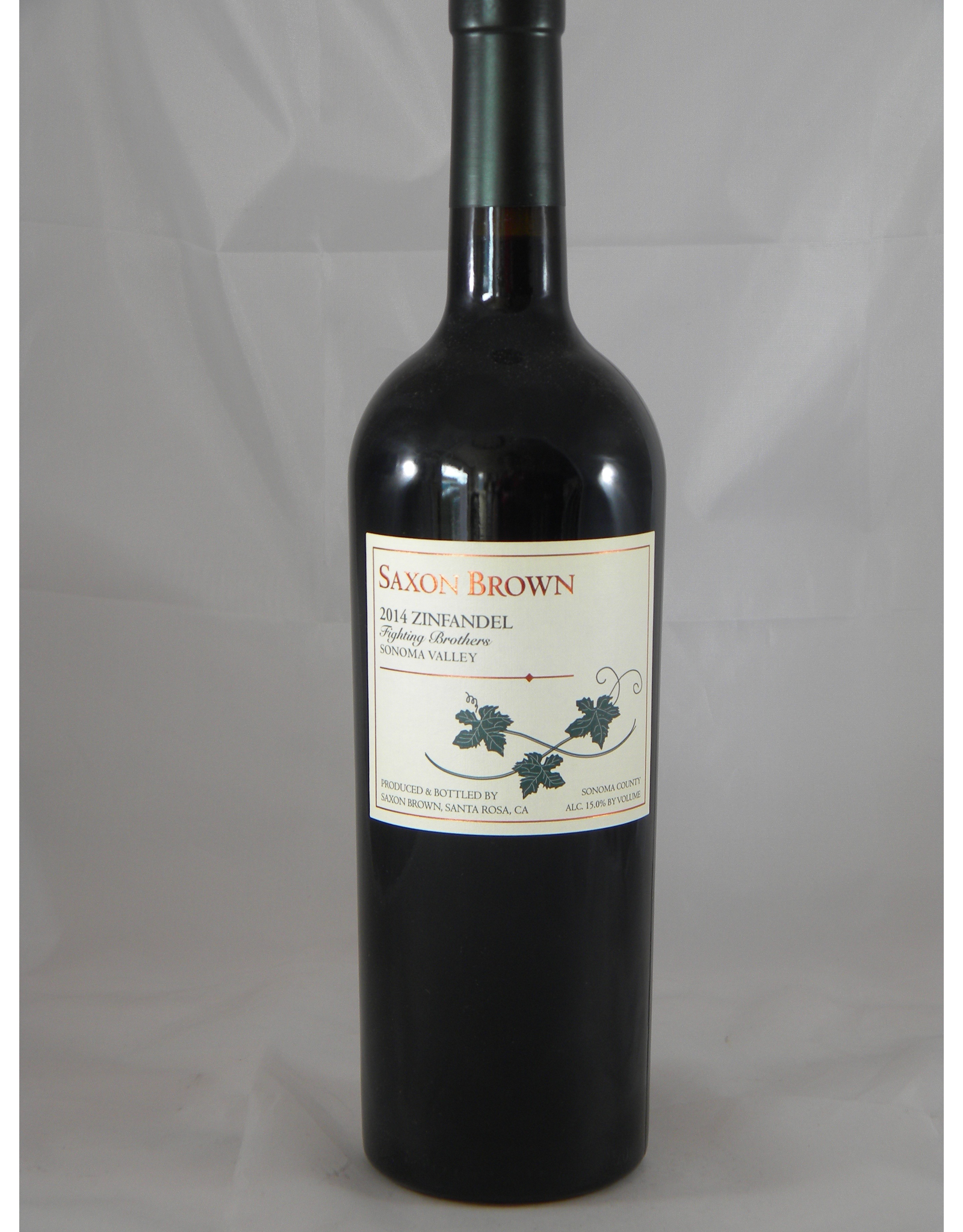 Saxon Brown Saxon Brown Zinfandel Sonoma Fighting Brothers 2015