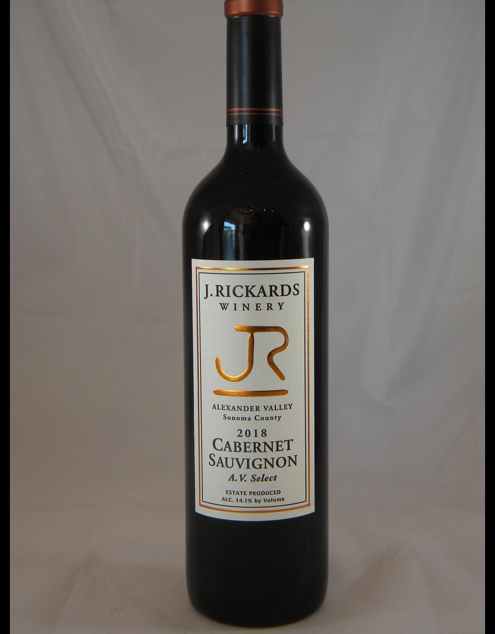 J Rickards Cabernet Alexander Valley Select 2018