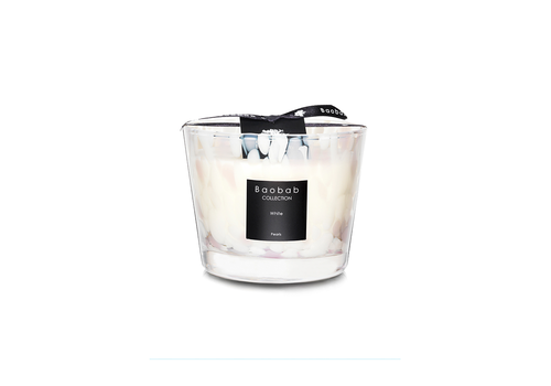 BAOBAB COLLECTION BAOBAB WHITE PEARLS CANDLE