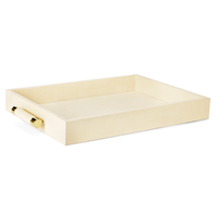 AERIN CLASSIC CREAM SHAGREEN SERVING TRAY