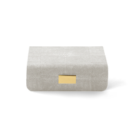 AERIN MODERN SHAGREEN JEWELRY BOX DOVE