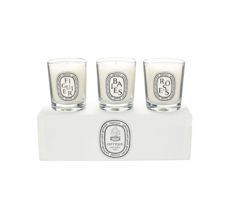 DIPTYQUE MINI SET OF 3 CANDLES