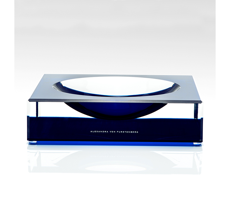 AVF LARGE VOLTAGE SAPPHIRE CANDY BOWL