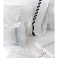 MATOUK BEL TEMPO BLUE KING DUVET COVER WITH TIES