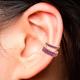 ANITA KO 18K SINGLE ROW PINK SAPPHIRE EAR CUFF