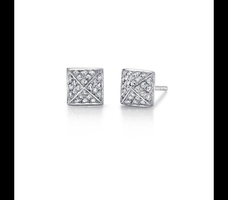 ANITA KO 18K DIAMOND SPIKE STUD EARRINGS